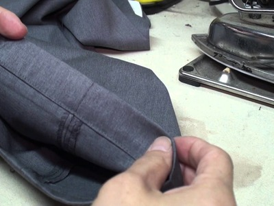 How to hem dress pants with cuff  and jeans