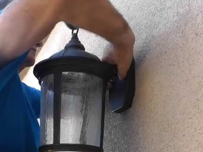 How to Install Outdoor Light Fixtures - Be Your Own Handyman @ Home