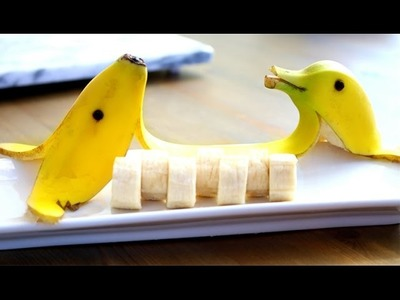 [ 香蕉海豚的做法 ] HOW TO MAKE BANANA DOLPHINS. DOG !!!!!