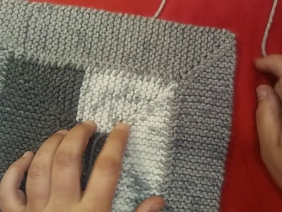 How to knit the Easiest mitered corner EVER part 2 (no w&t)