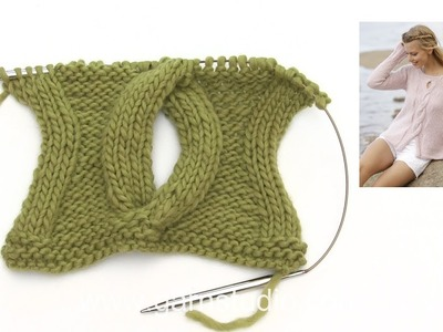 How to knit the open cable for the jumper in DROPS 176-4