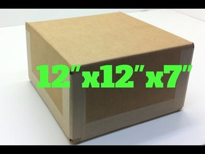 "How to make a 12"" x 12"" x 7"" cardboard box at home"