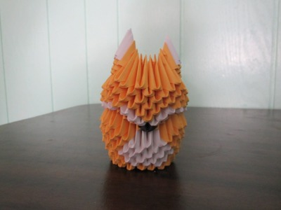 How to make a 3D Origami Fox Part 1