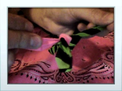 How to make a bandanna bag