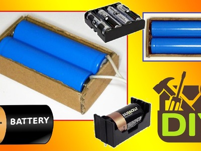 █ How To Make a Battery Holder at home █