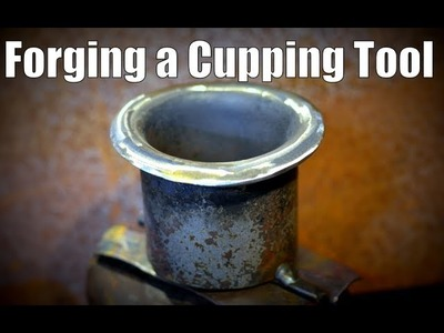 How to Make  a Blacksmith Cupping Tool. Swage Block Alternative