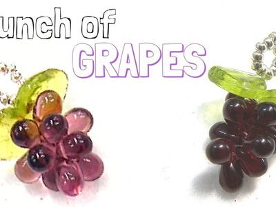 How to make a Bunch of Grapes with glass drops