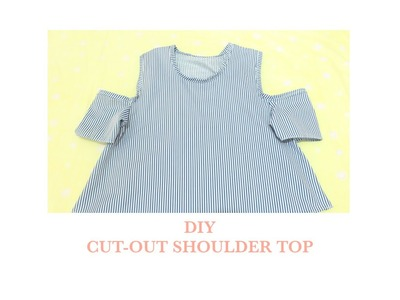 How to make a cut-out shoulder top