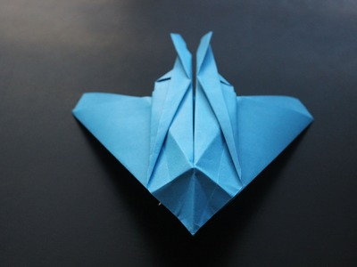 How to make a F-117 Night Hawk Origami Paper Plane: tutorial
