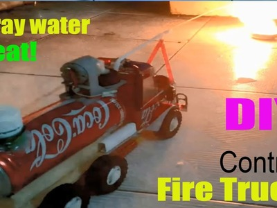 How to make a Fire Truck at home - Car Remote Control using Coca Cola (Electric Truck)