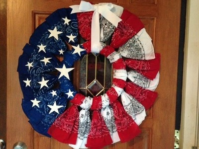 How to Make a Patriotic Bandana Wreath