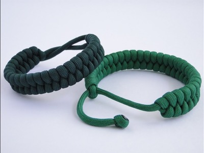 "How to Make a ""Rastaclat Style"" Fishtail Paracord Survival Bracelet-Single Strand Mad Max Closure"