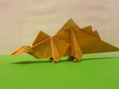 How To Make An Origami Stegosaurus