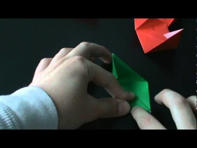 How to make an origami transforming rose cube.MPG