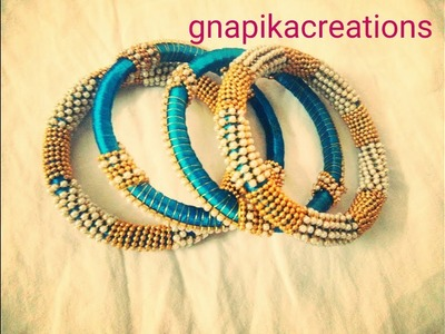 How to make  bridal chura.churi.bridal  bangle set with silkthread.wedding  collection