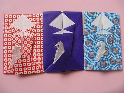 How to make cute small envelope with origami(pochi-bukuro)