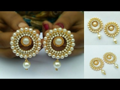 How To Make Designer Earrings. How To Make Paper Earrings. Paper Jewellery Making.DIY