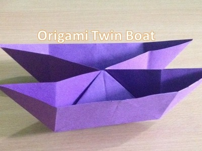 How to make Origami Twin Boat? - easy origami for kids