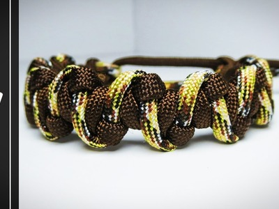 How to make The MrGoodBar Paracord Survival Bracelet [WITHOUT BUCKLE] [MAD MAX] [UWA ORIGINAL]