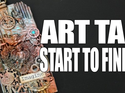 How to: Mixed Media Art Tag - Angels
