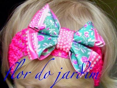 Laço estampado para Princesa - Embossed ribbon loop