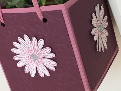 Large Pot Plant Gift Bag with Daisy Delight - new from Stampin' Up Video Tutorial