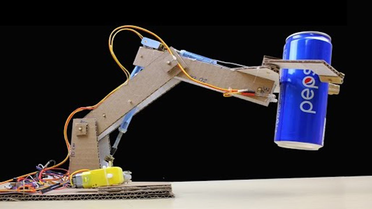 Make rc robotic arm from cardboard and dc motor simple Motor for robotic arm