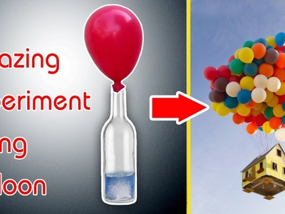 Making flying balloon at home with Powder Drain Cleaners - Amazing Experiment