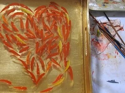 855 110K Many Ways To Say I Love You With Goldfish 3d Art
