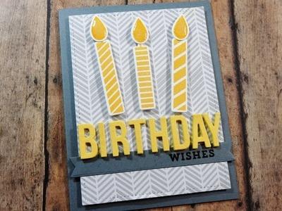 Masculine Card Series   MFT Make A Wish Birthday Card   Card 1 of 4