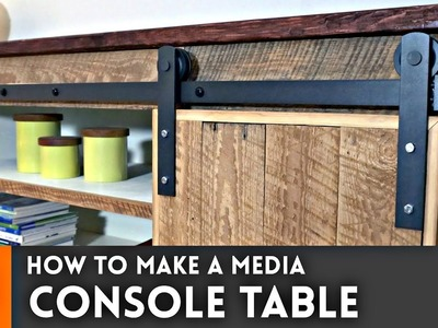 Media Console Table. Woodworking How To