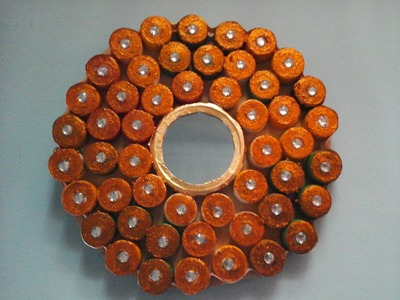 Mirror and Bottle Cap wall decoration idea.