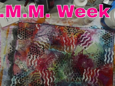 Mixed Media Mash-up Live Stream - Making a Journal Cover! Week 7!