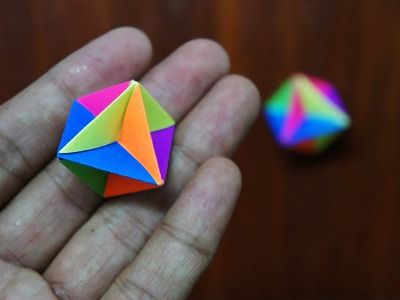 Modular Origami - How to make Modular Spinner Origami