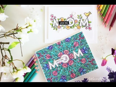 MOTHER'S DAY Cards: Masking and coloring with PENCILS