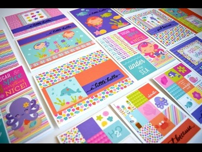 One 6x6 Pad 26 Cards | Doodlebug Under the Sea