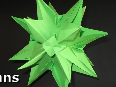 Origami: 3D Star - Christmas Decoration Idea's (Kusudama Spiky Ball Star)