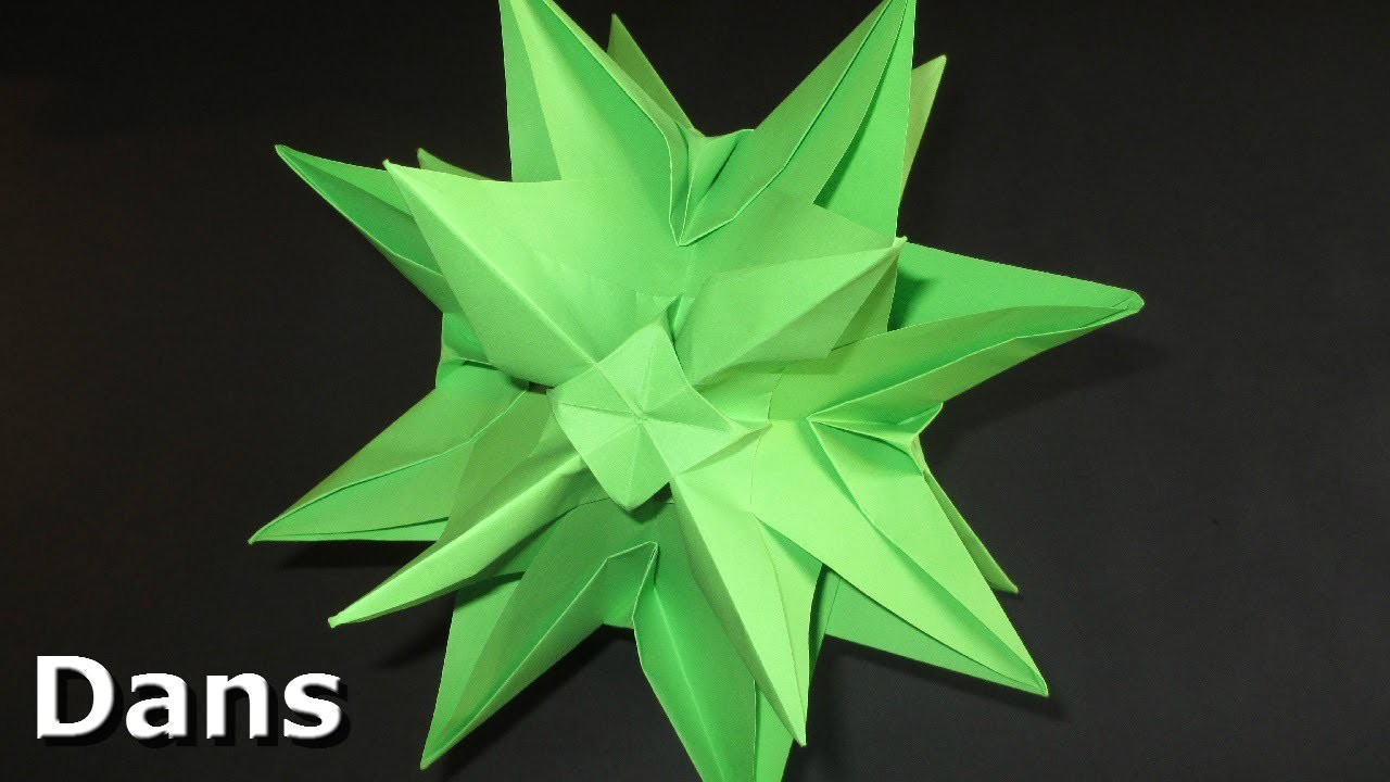Origami 3d star christmas decoration ideas kusudama for 3d paper star decoration