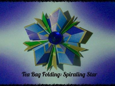 Origami Maniacs 178: Tea Bag Folding: Spiraling Star