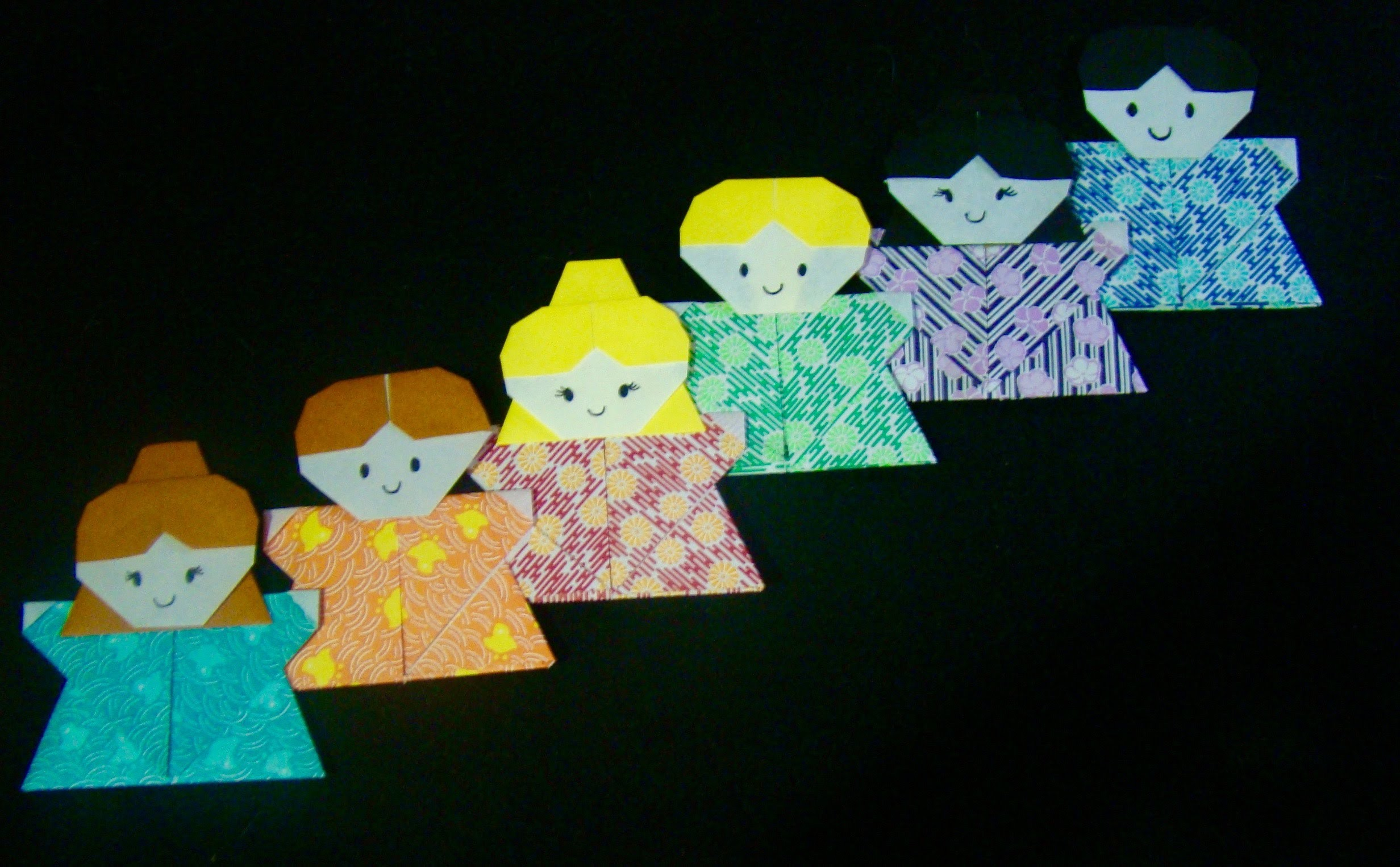 Origami Maniacs 203: Origami Boy and Girl. Ninios de Origami - photo#39