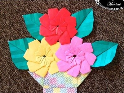 Origami origami flower helena ideas for easter decoration origami maniacs 261 8 petal flower mightylinksfo