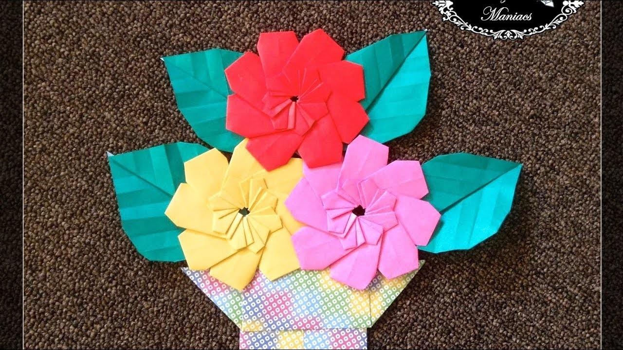 Origami Maniacs 261 8 Petal Flower