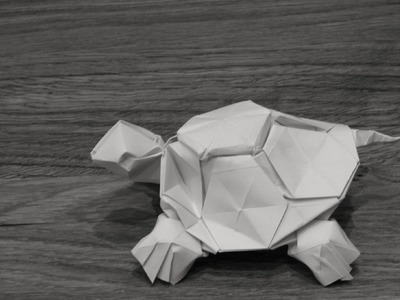 ORIGAMI TURTLE BY ROMAIN CHEVRIER