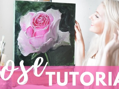 PAINTING TUTORIAL Acrylic Rose Techniques | Katie Jobling Art