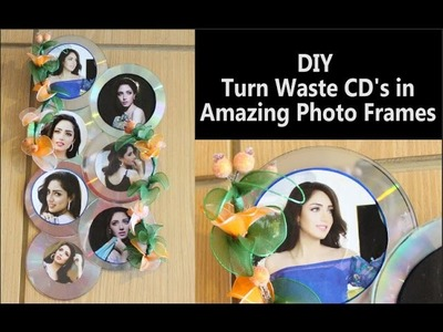 Photo Frame Out of Waste CD's: Photo Frames