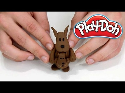 Play Doh How To Make KANGAROO Mommy & Baby Cute 3D Plasticine Creations 2016
