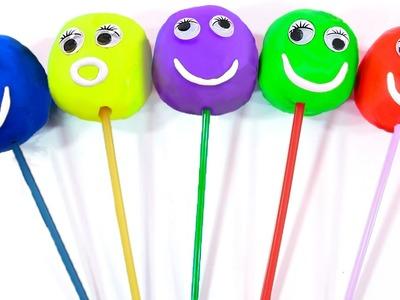Play Doh Lollipops Learning Colors Superhero Finger Family for Childrens Nursey Rhymes Disney Cars