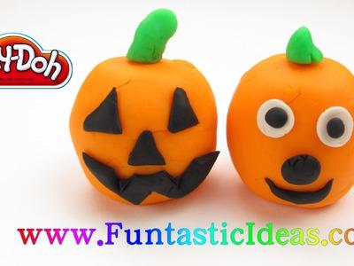 PlayDoh Pumpkin Jack-O-Lanterns Halloween - How to fun and easy for kids