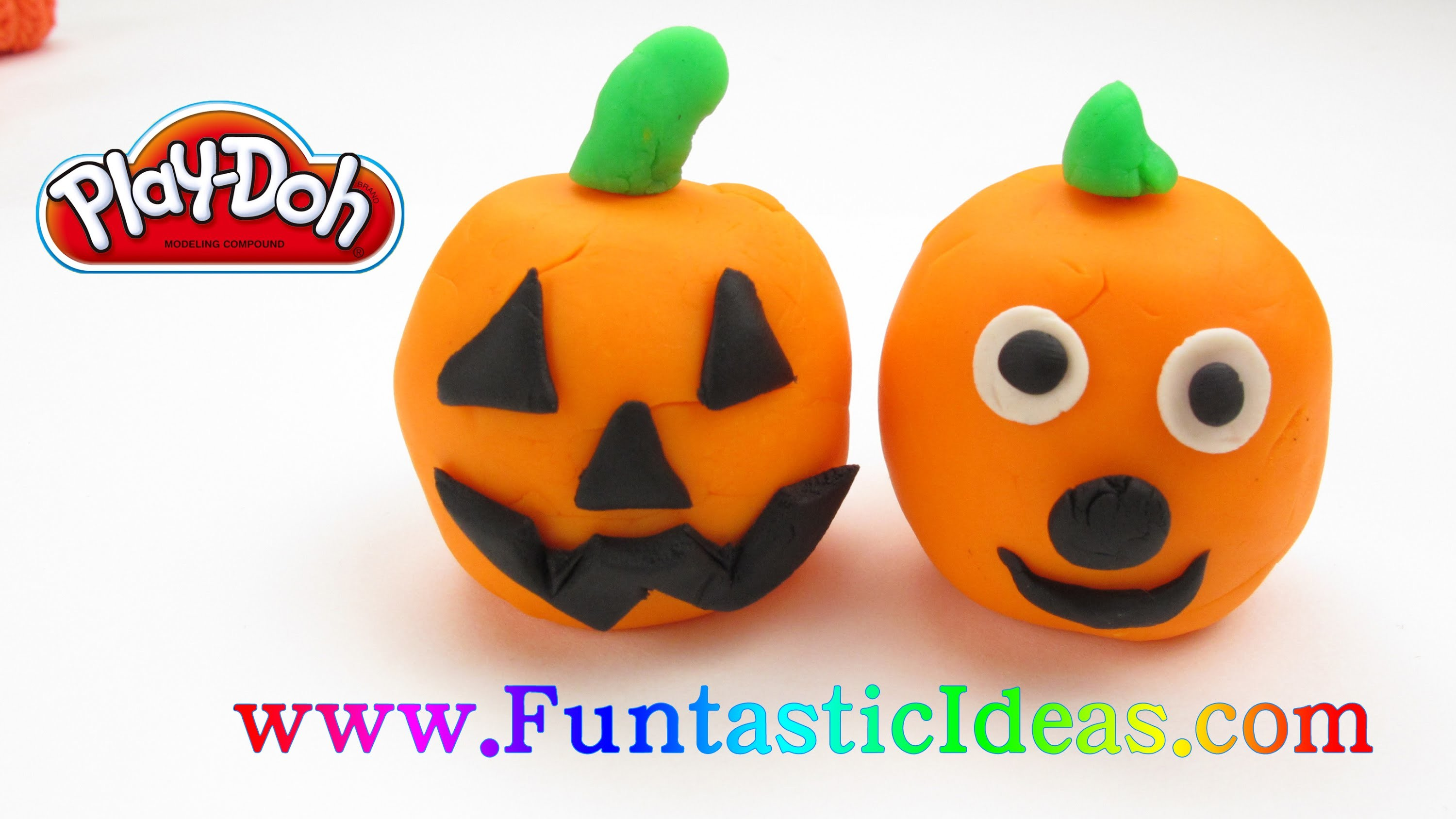 PlayDoh Pumpkin Jack-O-Lanterns Halloween - How to fun and easy for kids