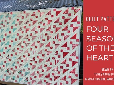 Quilt pattern: Four seasons of the heart - one pattern, four quilts (4 sizes)